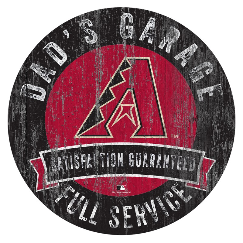 "Arizona Diamondbacks 12"" x 12"" Dad's Garage Sign"