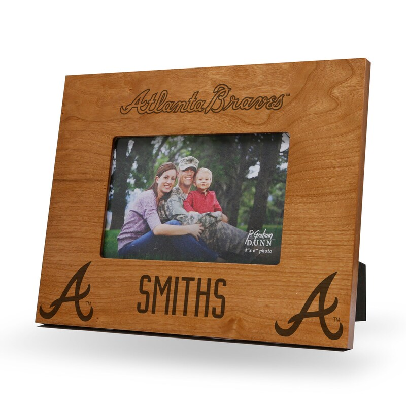 Atlanta Braves Sparo 9.75'' x 7.75'' Personalized Wood Picture Frame - Brown
