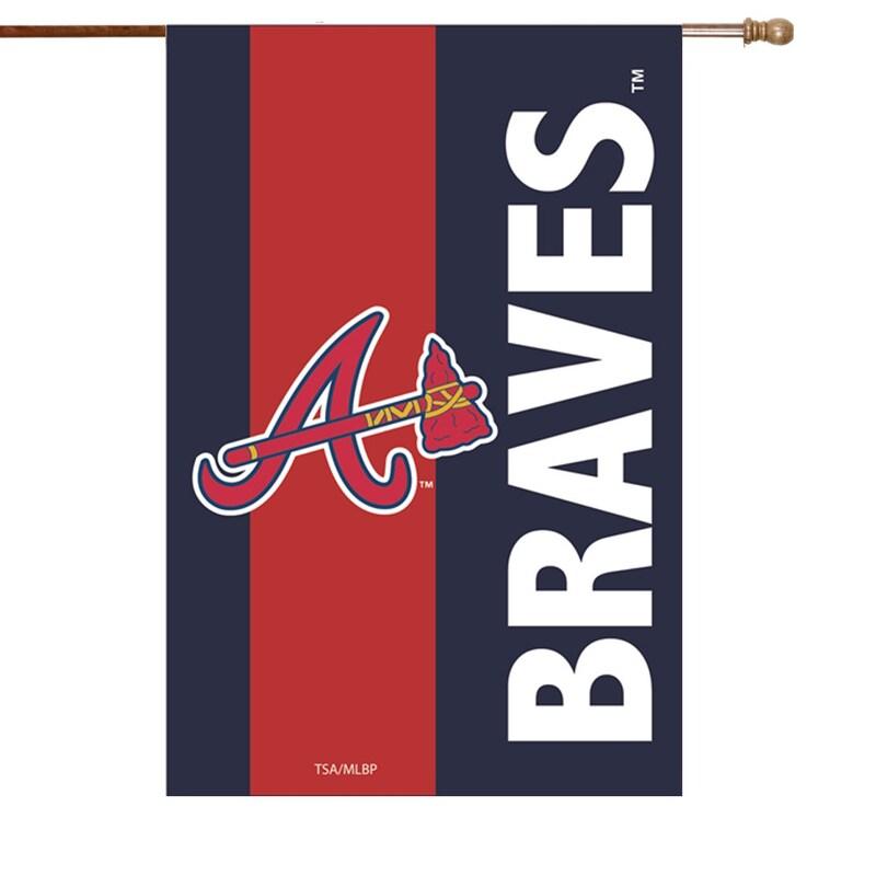 Atlanta Braves 28'' x 44'' Embellish House Flag