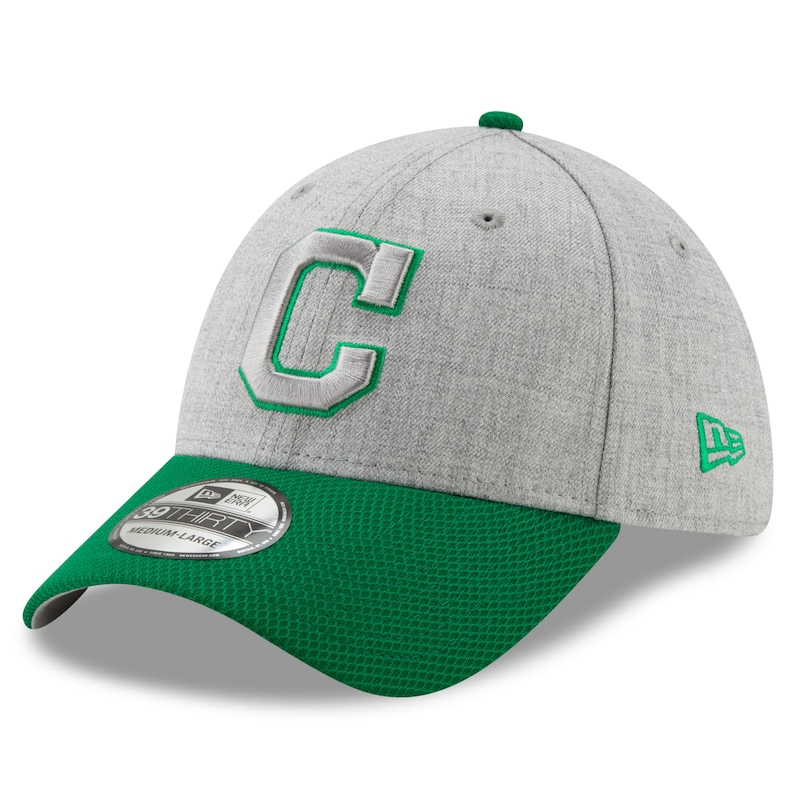 Cleveland Indians New Era St. Patrick's Day Change Up Redux 39THIRTY Flex Hat - Gray/Green