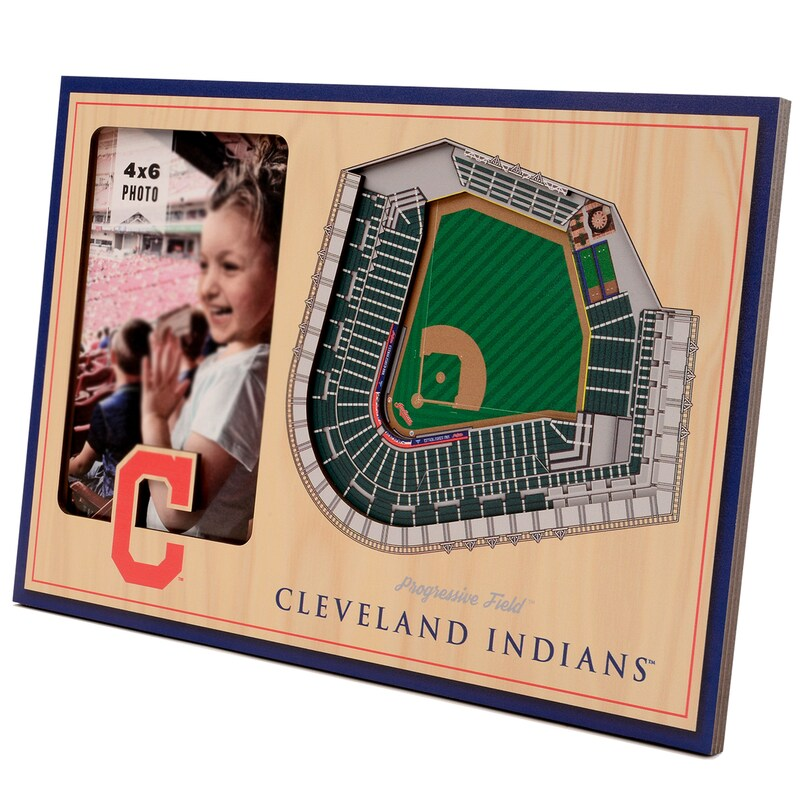 Cleveland Indians 3D StadiumViews Picture Frame - Brown
