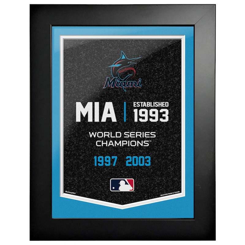 Miami Marlins 12'' x 16'' Empire Framed Artwork
