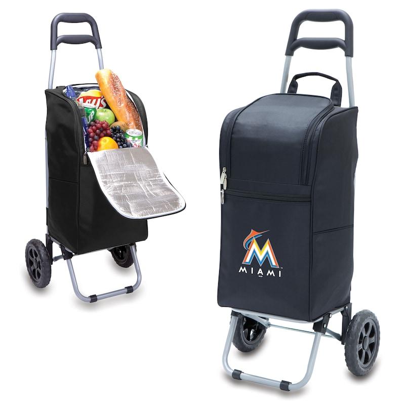 Miami Marlins Cart Cooler - Black -