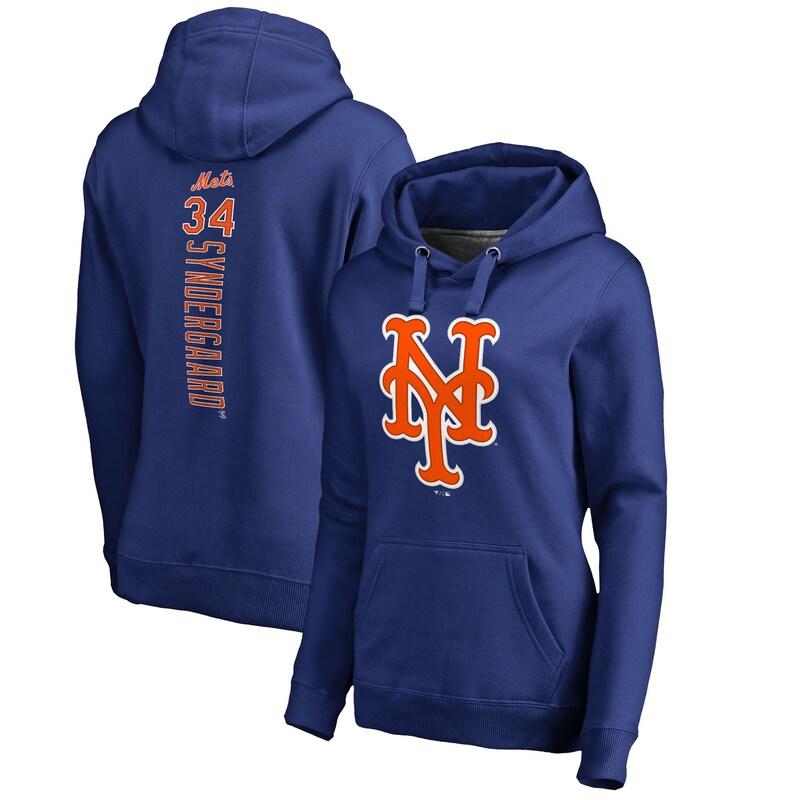 Noah Syndergaard New York Mets Fanatics Branded Women's Backer Pullover Hoodie - Royal
