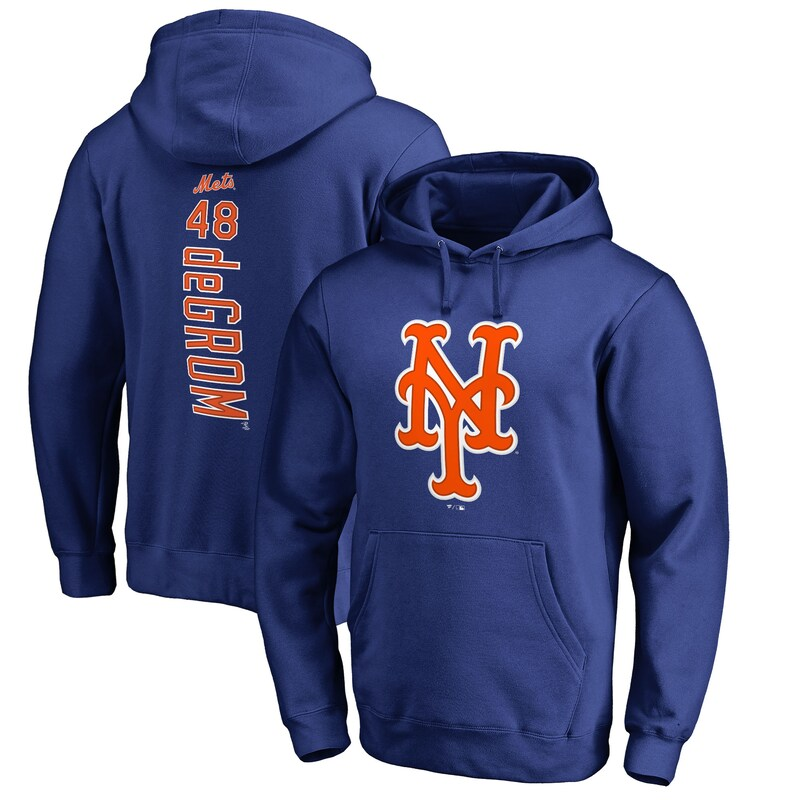 Jacob deGrom New York Mets Fanatics Branded Backer Pullover Hoodie - Royal