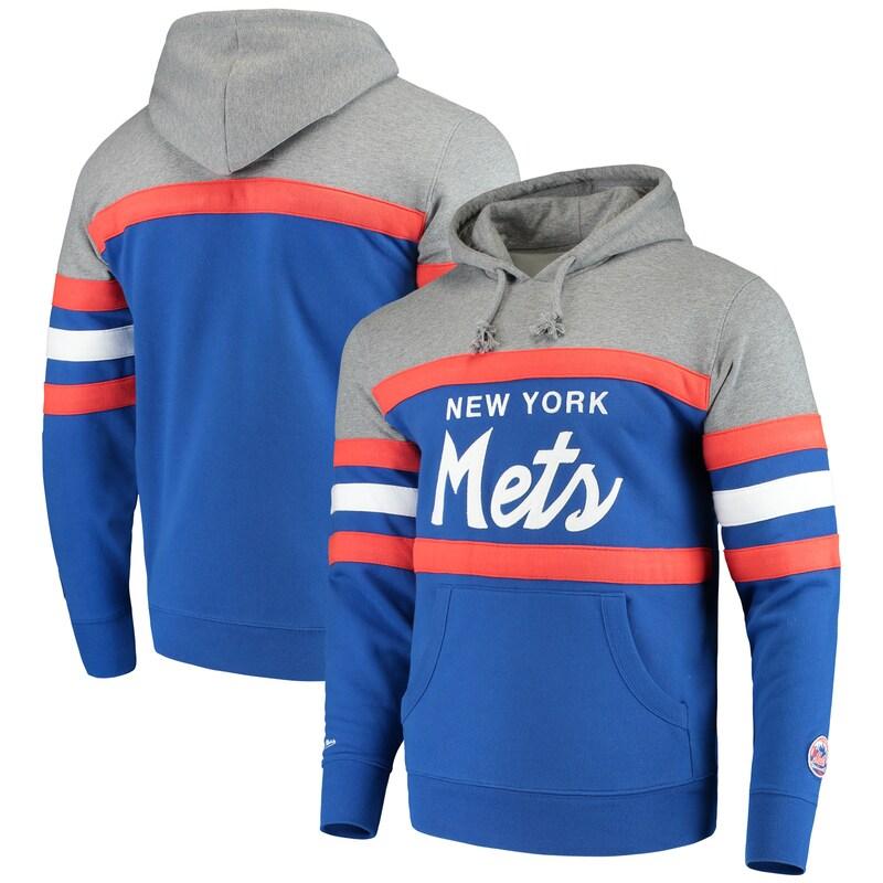 New York Mets Mitchell & Ness Head Coach Hoodie - Royal