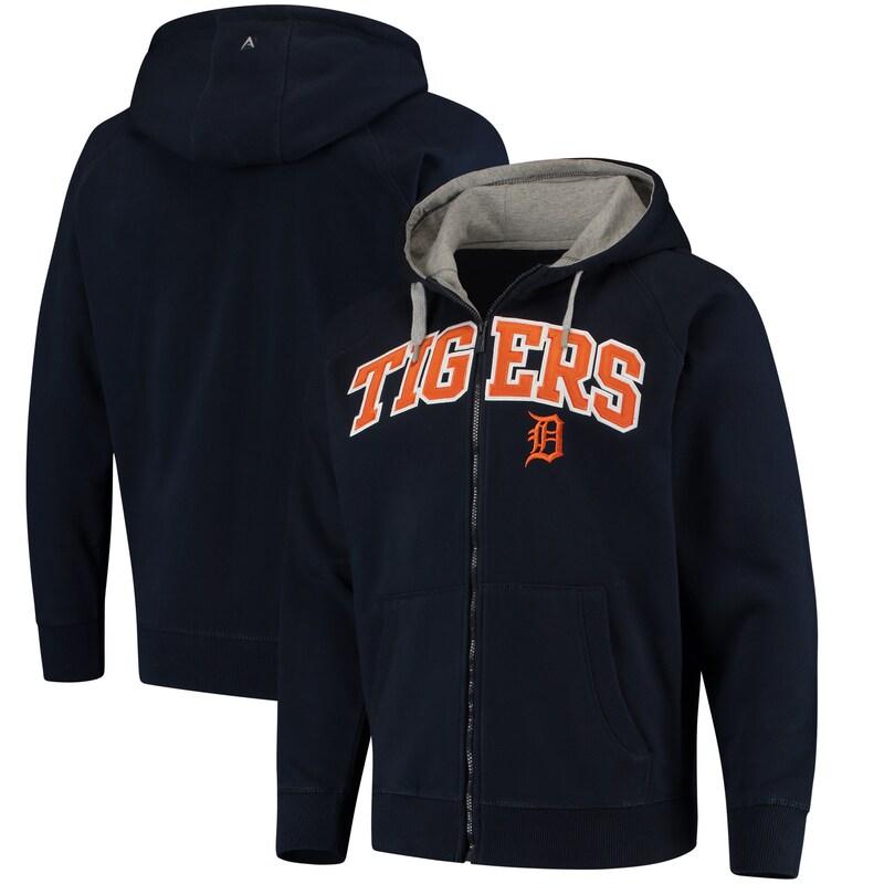 Detroit Tigers Antigua Team Victory Full-Zip Hoodie - Navy