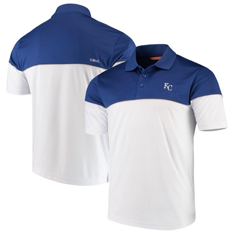Kansas City Royals Cutter & Buck Harrington Polo - Royal/White