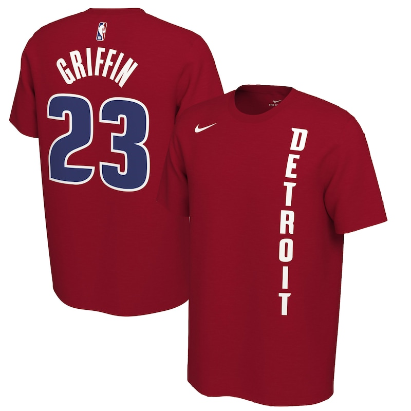 Blake Griffin Detroit Pistons Nike 2019/20 Earned Edition Name & Number T-Shirt - Red