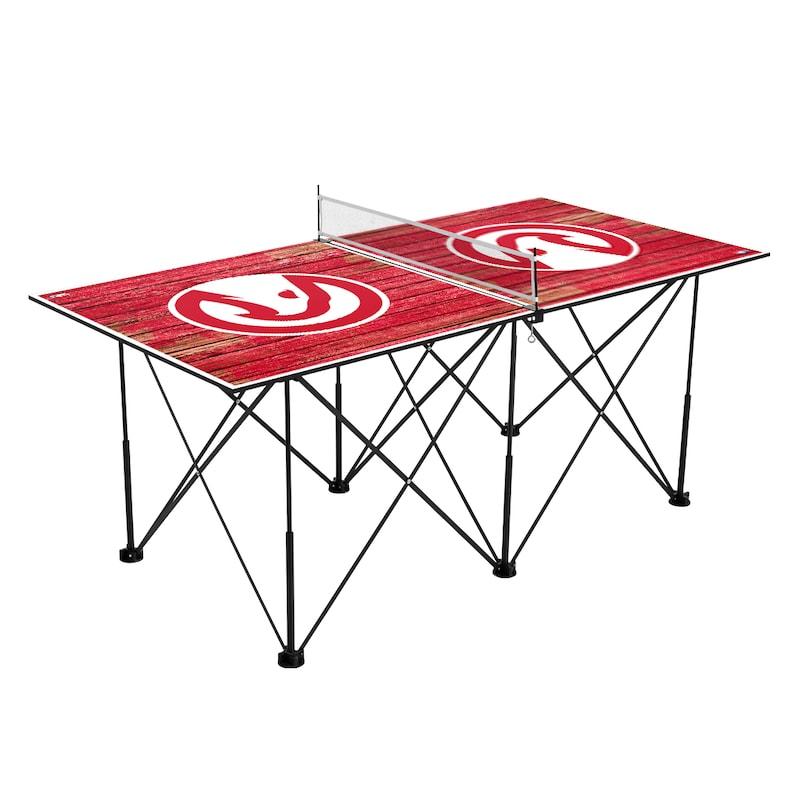 Atlanta Hawks 6' Weathered Design Pop Up Table Tennis Set