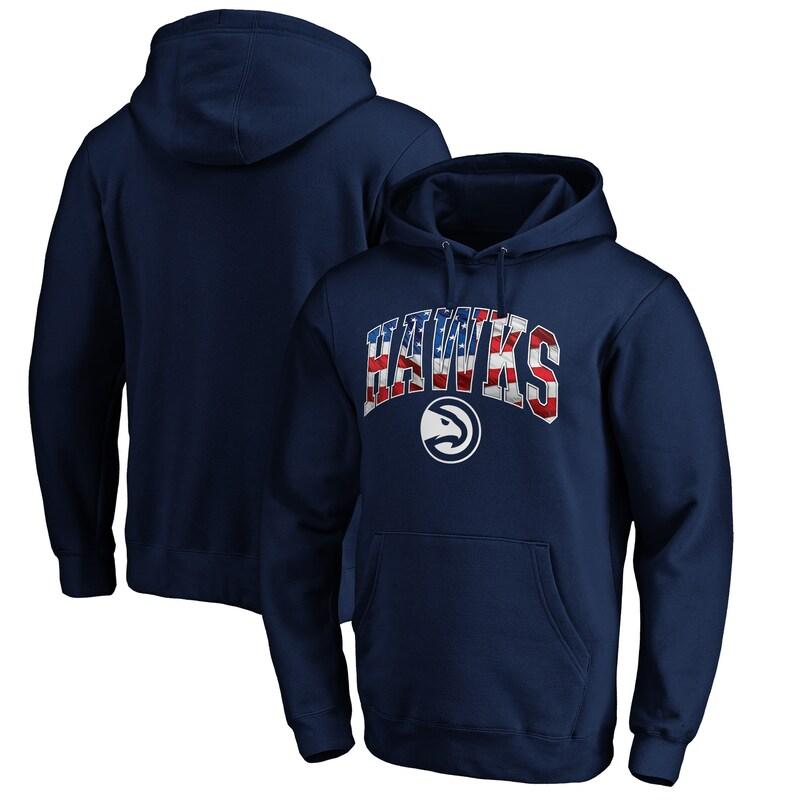 Atlanta Hawks Fanatics Branded Banner Wave Pullover Hoodie - Navy