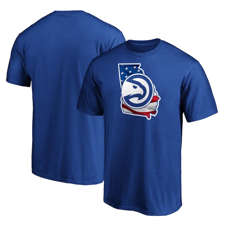 Atlanta Hawks Fanatics Branded Banner State T-Shirt - Royal