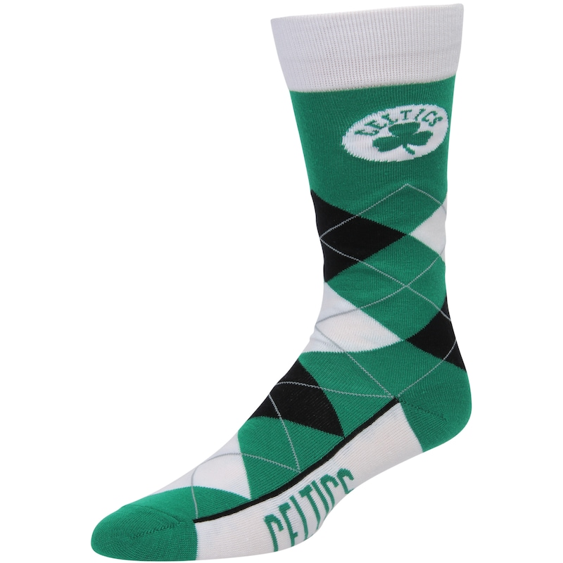 Boston Celtics For Bare Feet Argyle Crew Socks