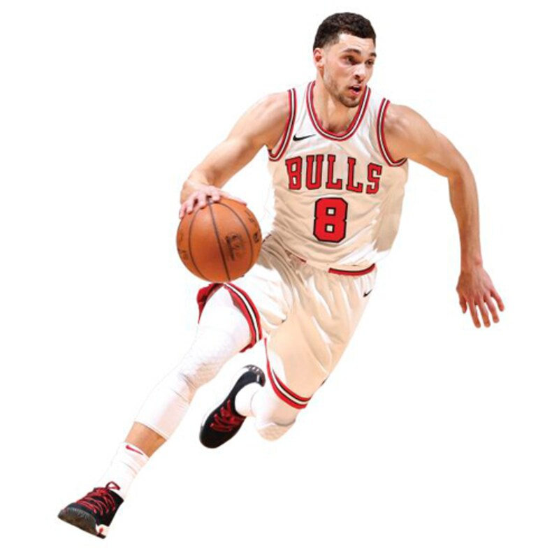 Zach LaVine Chicago Bulls Fathead Life Size Removable Wall Decal