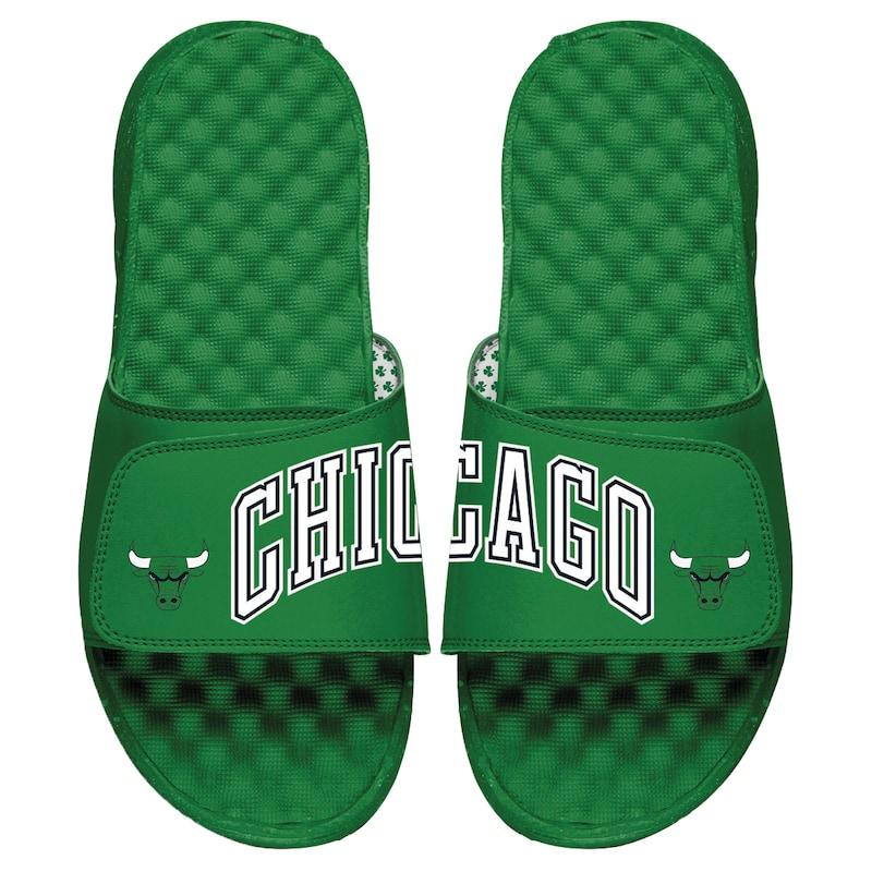 Chicago Bulls ISlide Split Slide Sandals - Green