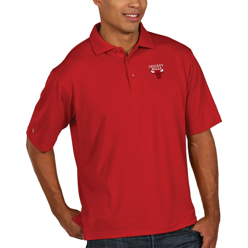Chicago Bulls Antigua Pique Xtra Lite Big & Tall Polo - Red