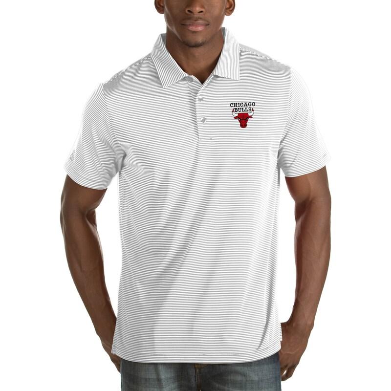Chicago Bulls Antigua Quest Big & Tall Polo - White