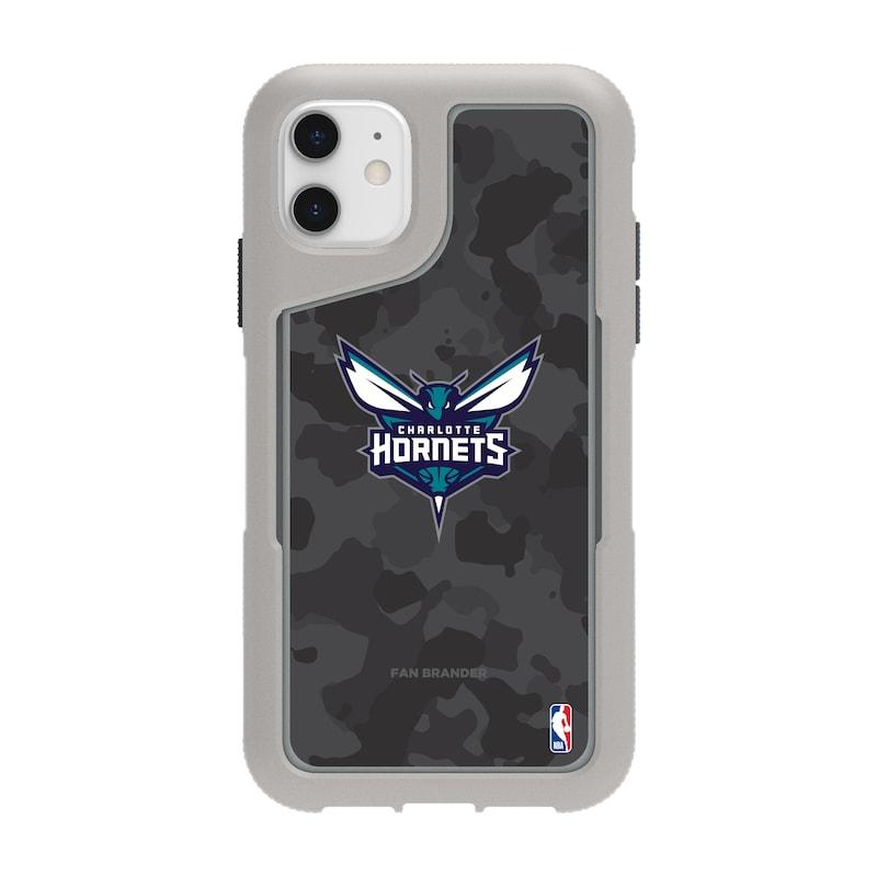 Charlotte Hornets Griffin Survivor Endurance Camo iPhone Case - Gray