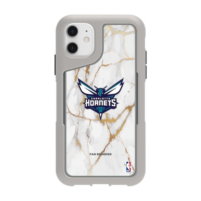 Charlotte Hornets Griffin Survivor Endurance Marble iPhone Case - Gray