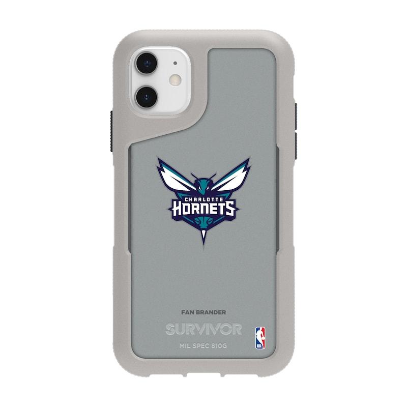 Charlotte Hornets Griffin Survivor Endurance iPhone Case - Gray