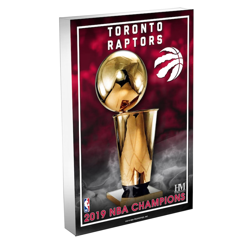 Toronto Raptors Highland Mint 2019 NBA Finals Champions 4'' x 6'' 3D Acrylic Blockart