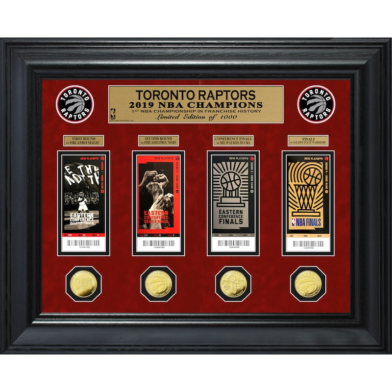 Toronto Raptors Highland Mint 2019 NBA Finals Champions 22'' x 18'' Deluxe Gold Coin & Ticket Collection