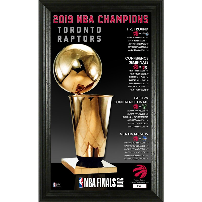 Toronto Raptors Highland Mint 2019 NBA Finals Champions 12'' x 20'' Trophy Panoramic Photo