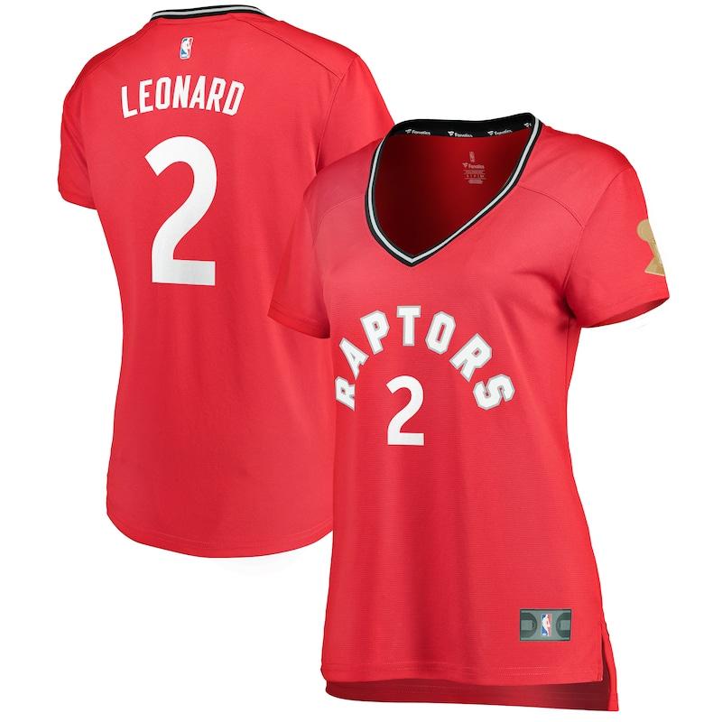 Kawhi Leonard Toronto Raptors Fanatics Branded Women's 2019 NBA Finals Champions Fast Break Replica Player Jersey Red - Icon Edition
