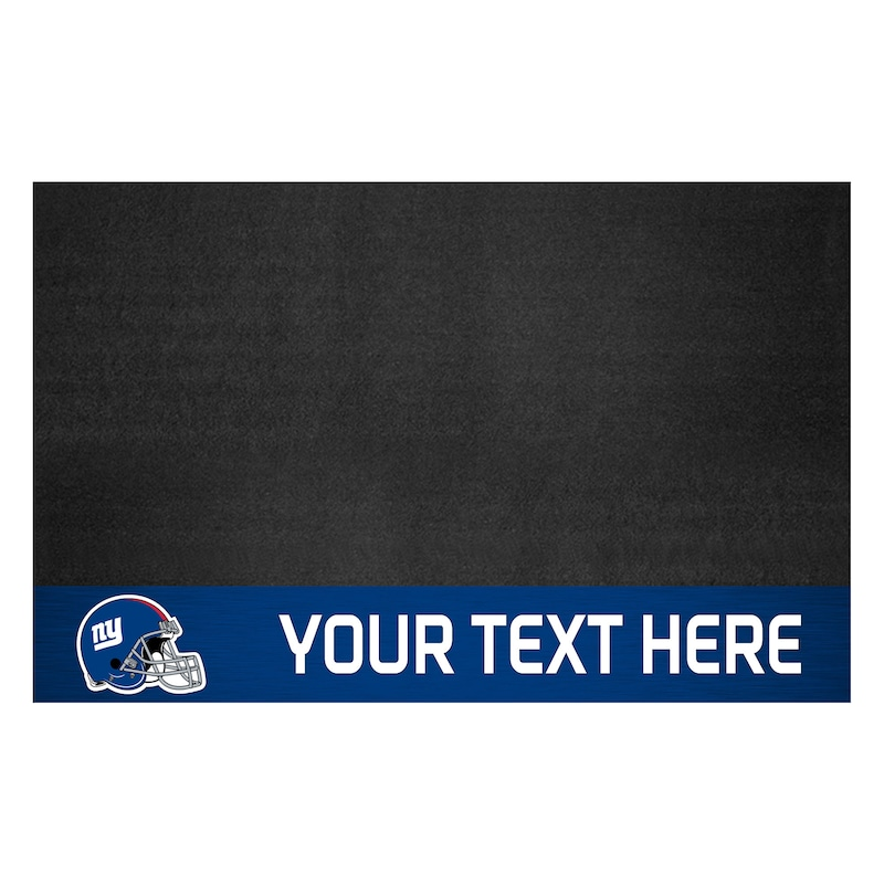 New York Giants 26'' x 42'' Personalized Vinyl Grill Mat