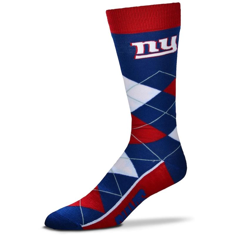 New York Giants For Bare Feet Argyle Crew Socks