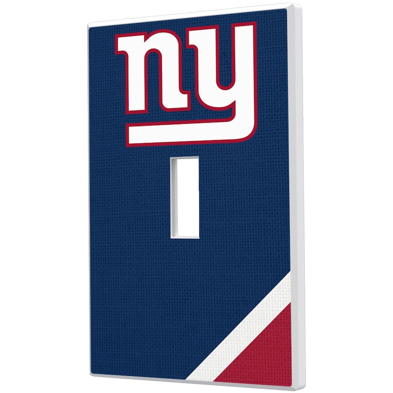 New York Giants Diagonal Stripe Single Toggle Light Switch Plate