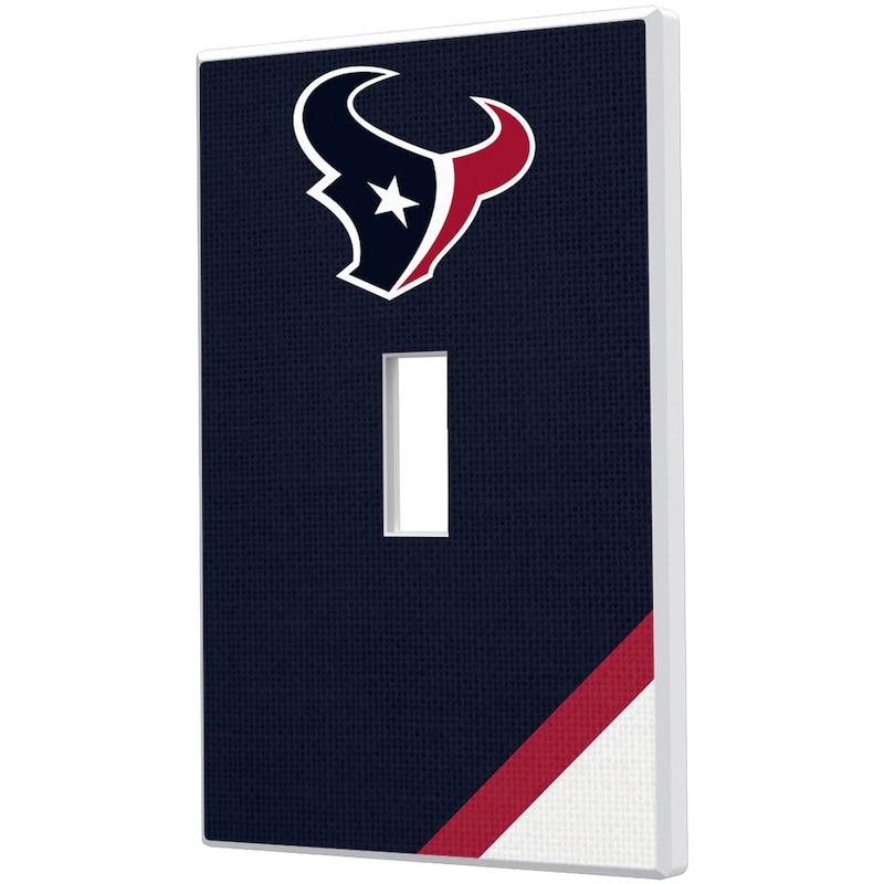 Houston Texans Diagonal Stripe Single Toggle Light Switch Plate