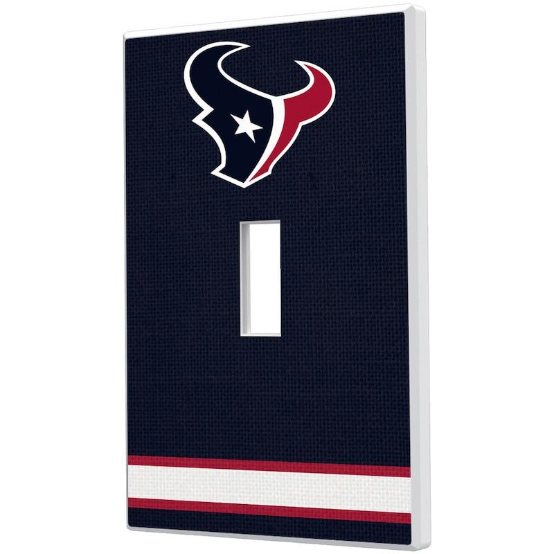 Houston Texans Stripe Single Toggle Light Switch Plate