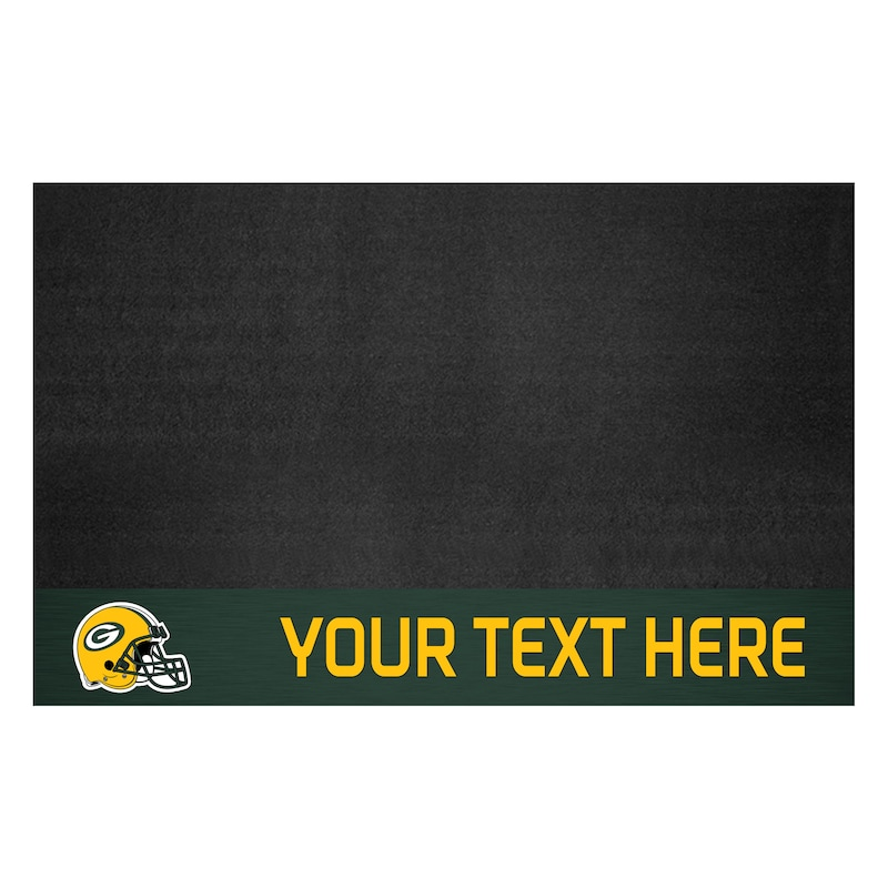 Green Bay Packers 26'' x 42'' Personalized Vinyl Grill Mat