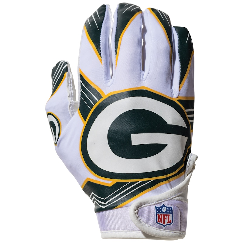 Green Bay Packers Franklin Sports Youth Receiver Gloves
