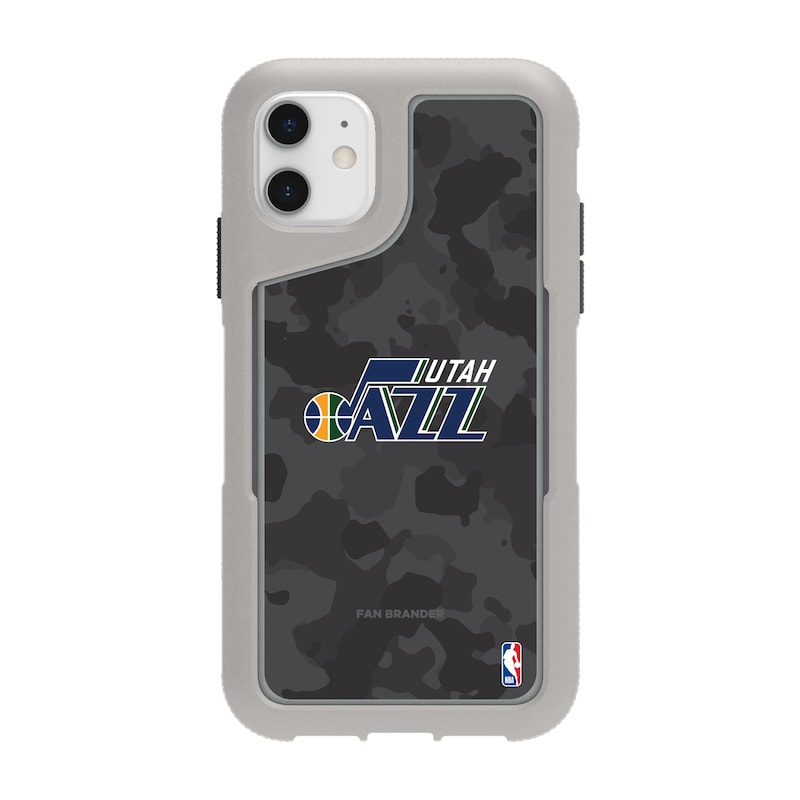 Utah Jazz Griffin Survivor Endurance Camo iPhone Case - Gray