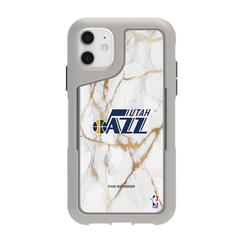 Utah Jazz Griffin Survivor Endurance Marble iPhone Case - Gray