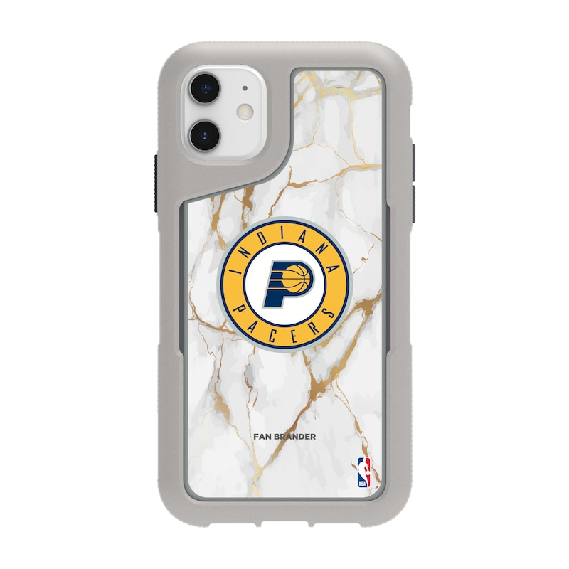 Indiana Pacers Griffin Survivor Endurance Marble iPhone Case - Gray