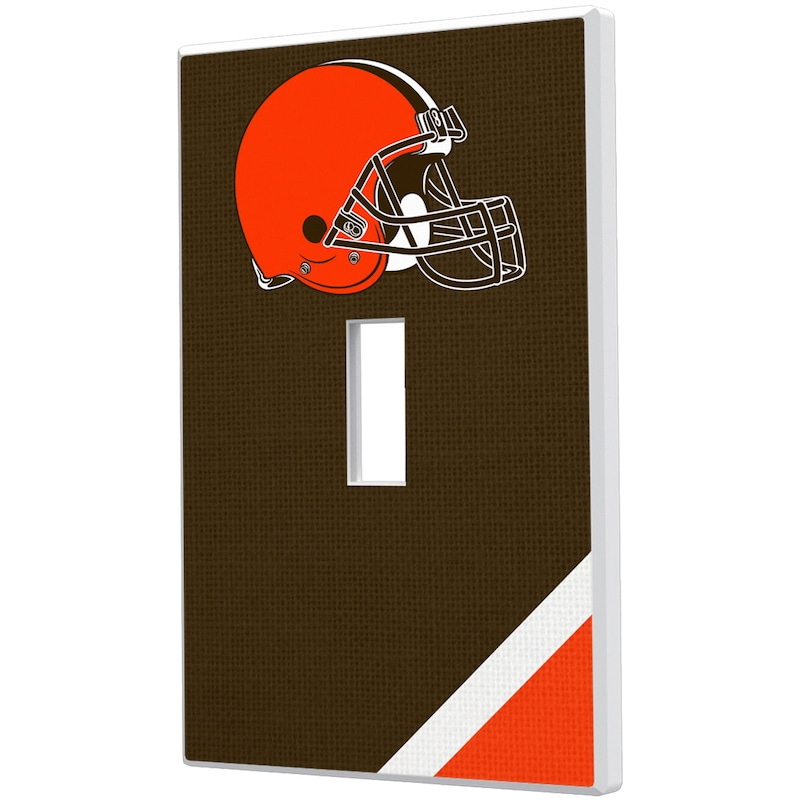 Cleveland Browns Diagonal Stripe Single Toggle Light Switch Plate