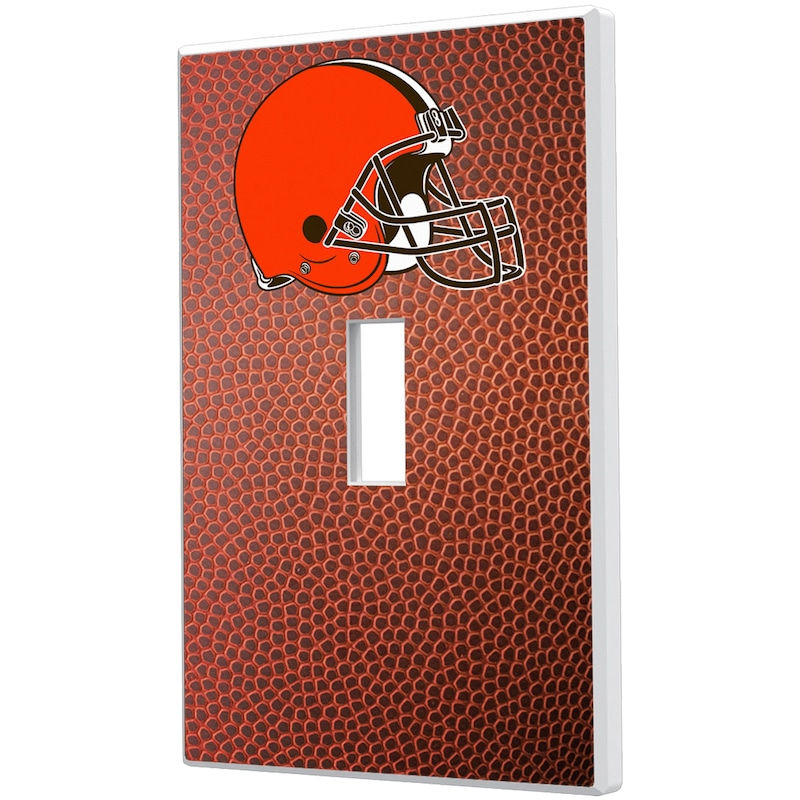 Cleveland Browns Football Design Single Toggle Light Switch Plate