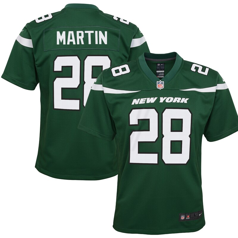Curtis Martin New York Jets Nike Youth Game Jersey - Gotham Green