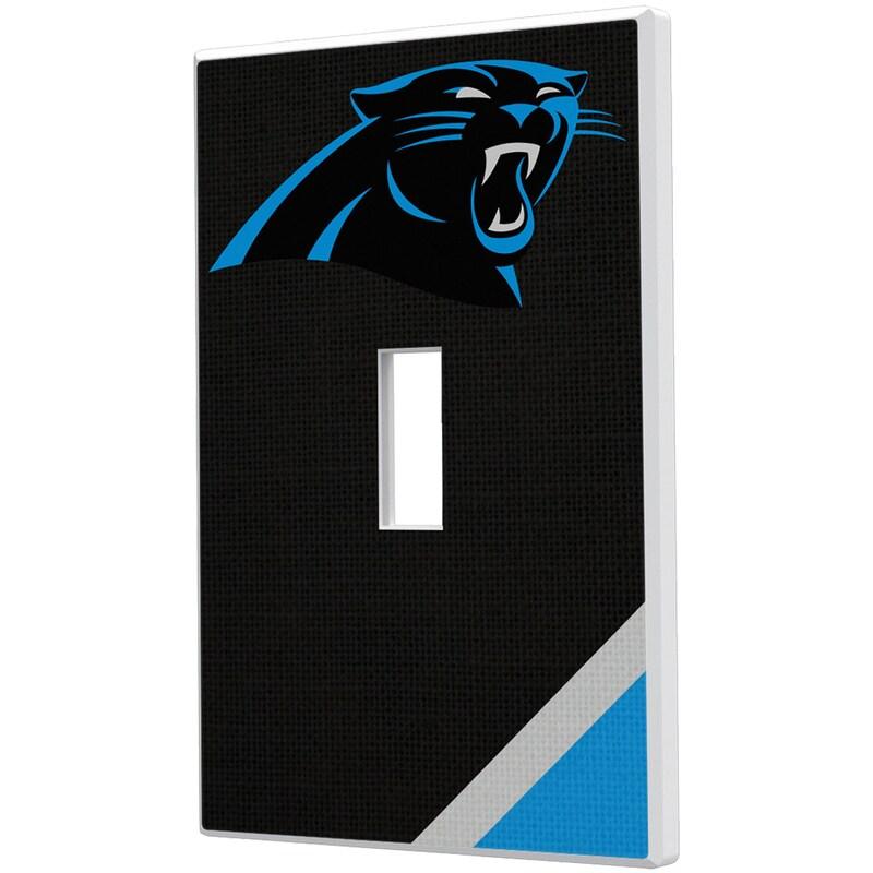 Carolina Panthers Diagonal Stripe Single Toggle Light Switch Plate