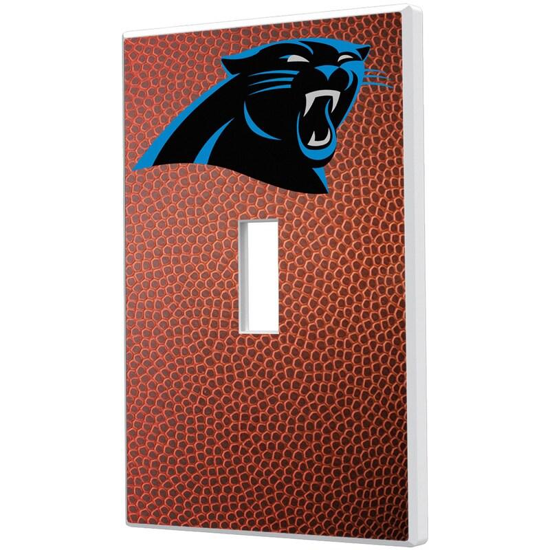 Carolina Panthers Football Design Single Toggle Light Switch Plate