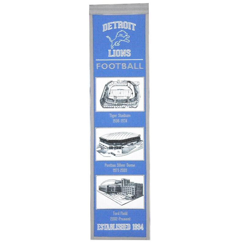 """Detroit Lions 8"""" x 32"""" Transformation Banner"""