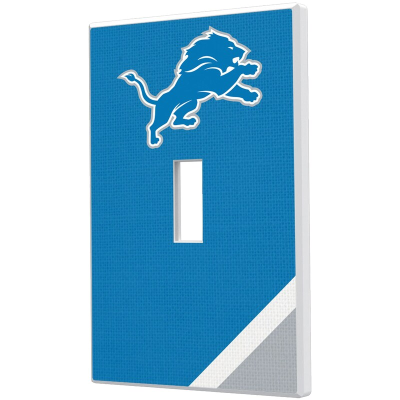 Detroit Lions Diagonal Stripe Single Toggle Light Switch Plate