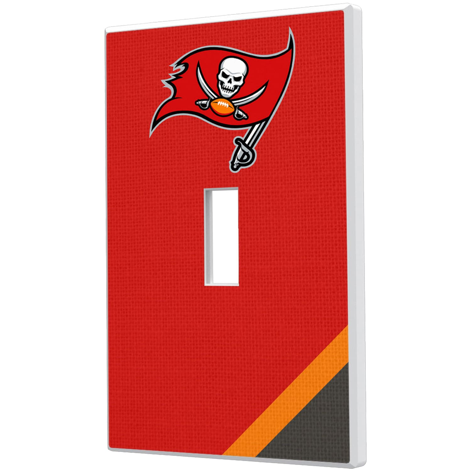 Tampa Bay Buccaneers Diagonal Stripe Single Toggle Light Switch Plate