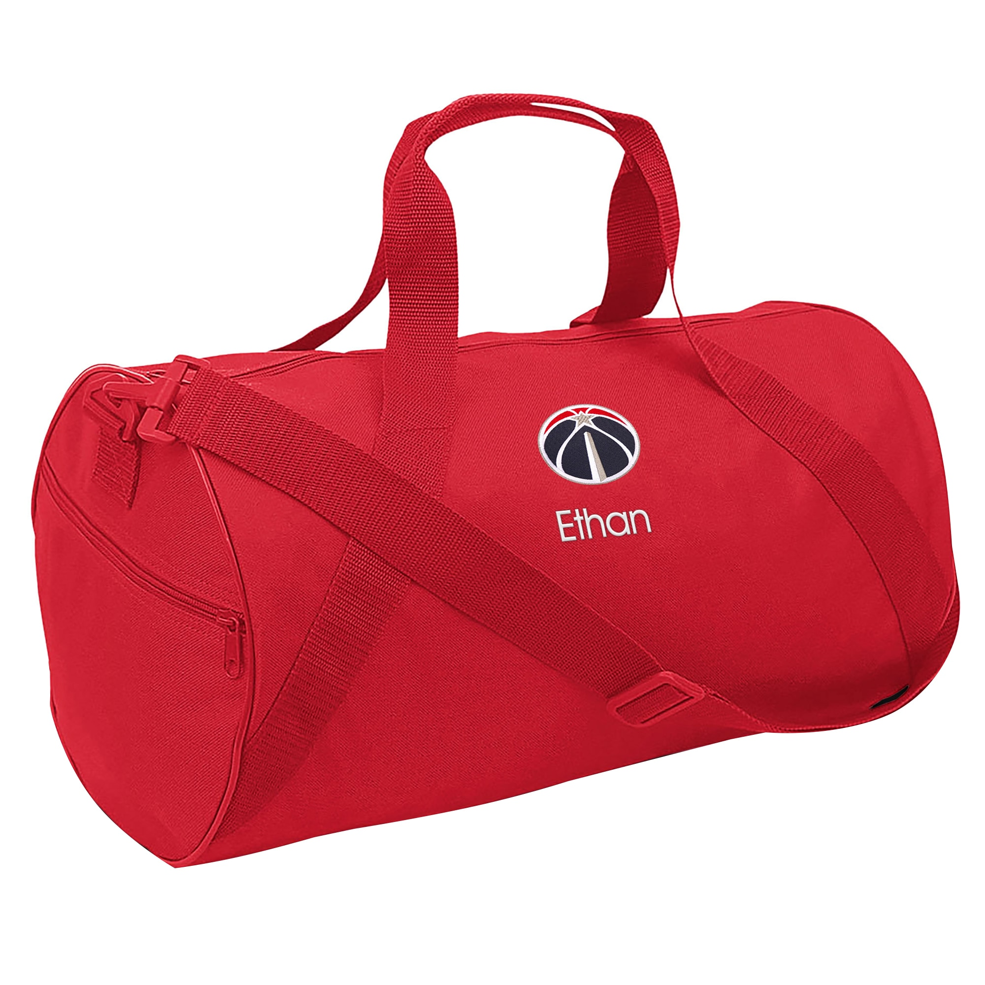 Washington Wizards Youth Personalized Duffle Bag - Red