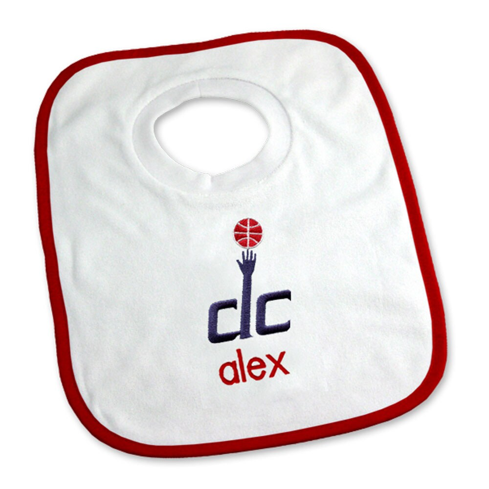 Washington Wizards Newborn & Infant Personalized Bib - White
