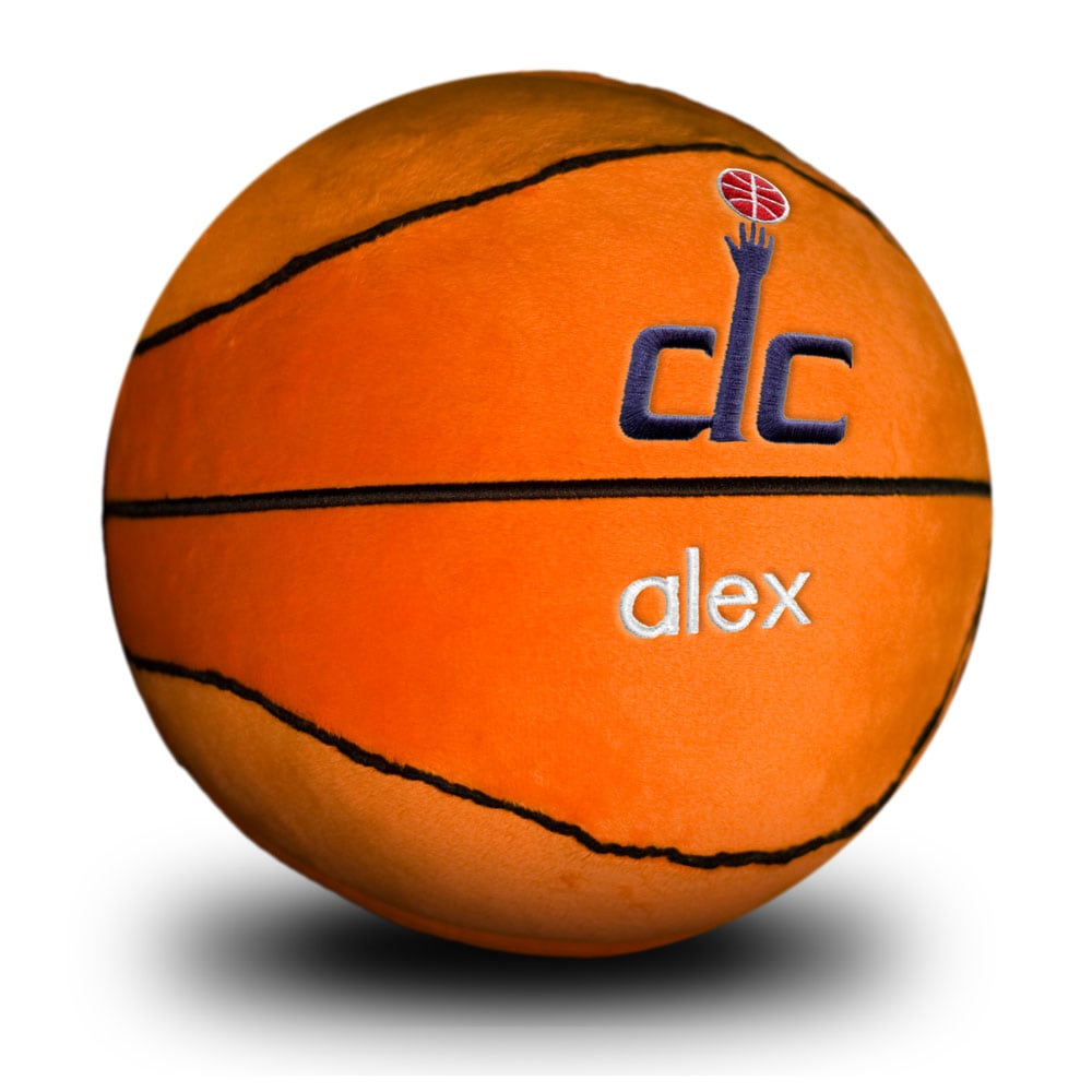 Washington Wizards Personalized Plush Baby Basketball - Orange
