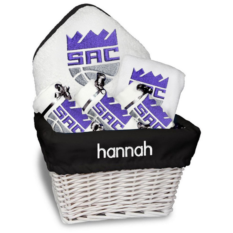 Sacramento Kings Newborn & Infant Personalized Medium Gift Basket - White